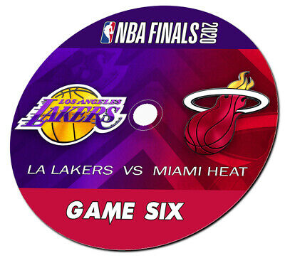 2020 NBA Finals Lakers vs- Heat Game 6 DVD