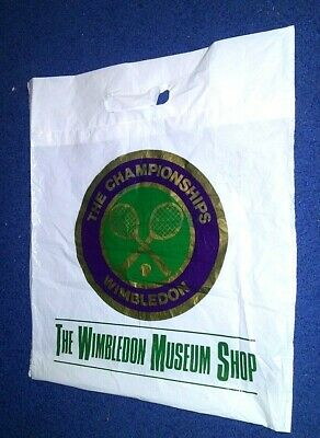 Vintage 1985 Wimbledon Tennis Museum Shop - Shopping Bag