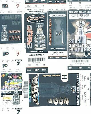 9 Philadelphia Flyers OLD Playoffregular Season tickets 1990s - 2010s