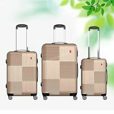3 Piece Luggage sets Lightweight Durable Spinner Suitcase Carry On 20 24 28