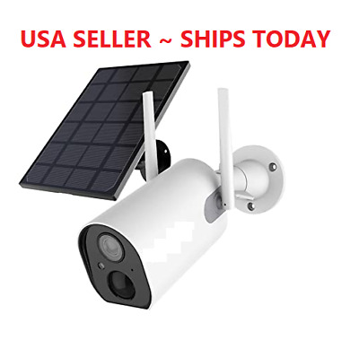 Wireless Security Camera 1080P Outdoor Battery Powered Solar Panel