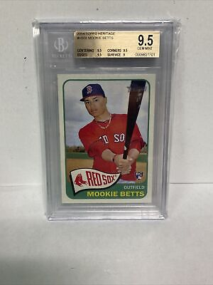 2014 Topps Heritage Mookie Betts Rookie Card H558 BGS 9-5 WOW