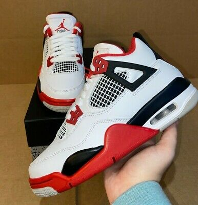 Jordan 4 Retro Fire Red 2020 GS sizes 4-7y  5-5-8-5 Womens 408452-160