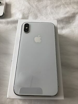 iPhone X 10 256GB Silver White - Factory Unlocked - Used Cracked Screen Spectrum