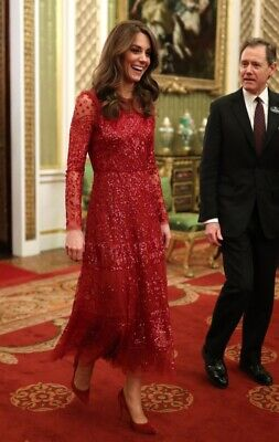 NWT Needle - Thread Aurora Gown AS SEEN ON KATE MIDDLETON  SOLD OUT Size 0