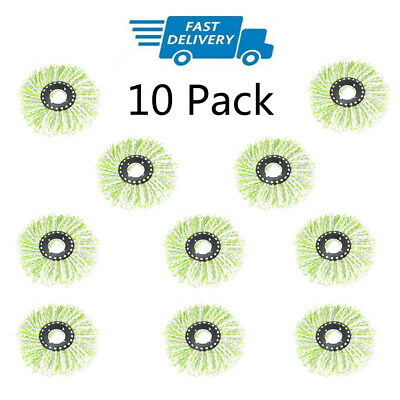 10Pack Replacement Microfiber Mop Head Refill For Spin Mop 360°  Easy Cleaning