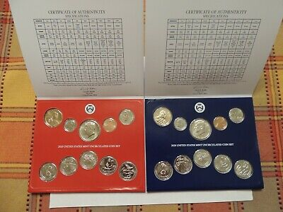 2020 P-D US Mint Uncirculated Coin Set  IN STOCK 20RJ Unavailable at the Mint