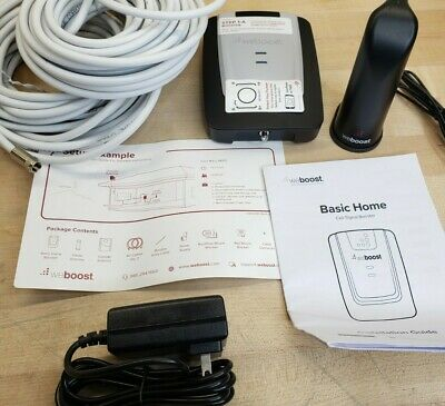 WeBoost Basic Home 471101 Cell Phone Signal Booster Kit  Up to 1500 sq- ft-