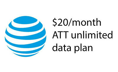 AT-T Unlimited Data Plan 20Month Hotspot standalone only