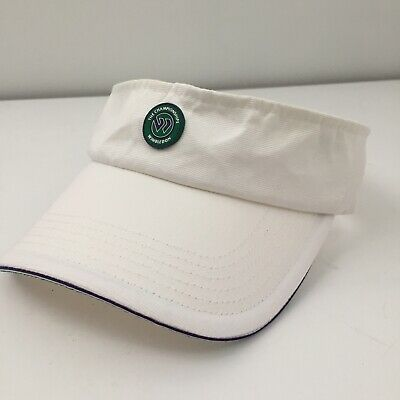 Official The Championships Wimbledon Tennis Visor white with Raised logo