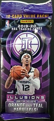 2019-20 Panini Illusions NBA Basketball Cello Fat Pack 12-card Value Pack SEALED