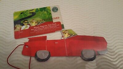2005 Starbucks Fathers Day Road Trip Gift Card - NEW wMatching Sleeve Car