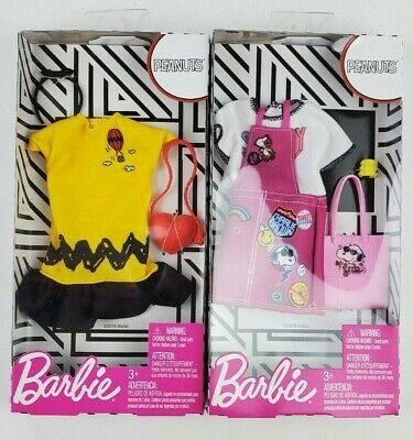 Barbie Complete Fashion Peanuts clothing Lot of 2 pieces Snoopy Charlie Brown