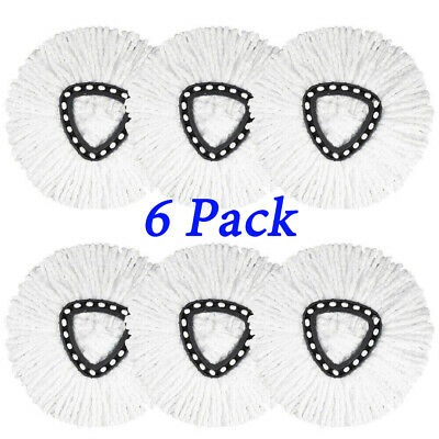 6x For O-Cedar Spin Mop Replacement Microfiber Mop Head Easy Clean Wring Refill