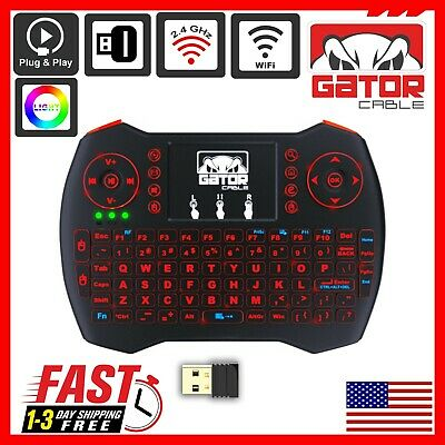 Mini Wireless Keyboard Remote Touchpad 2-4GHz Smart-TV Android TV Box PC BACKLIT