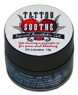TATTOO SOOTHE 10g Topical Anesthetic Numbing Gel Microblading Permanent Makeup