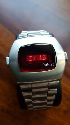 Pulsar P2 LED watch Date Time Modul 3013 two button Top condition, running