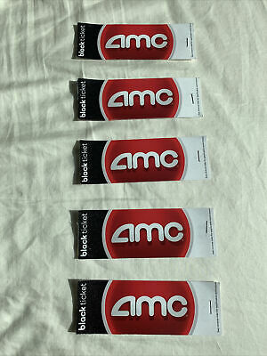 10x Ten 10 AMC Black Movie Tickets IN HAND No Expiration Pack Lot