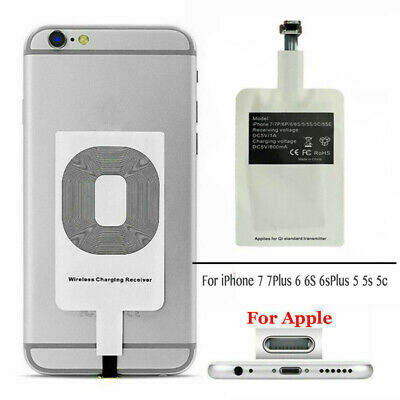Qi Wireless Adapter Fast Charger Receiver For iPhone 7 7Plus 6 6s 6sPlus 5 5c 5s