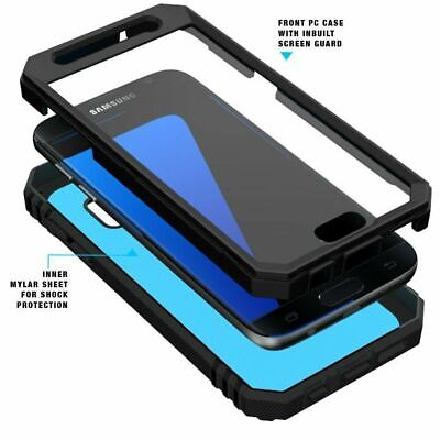 For Samsung Galaxy S7 Case With Screen Protector Phone Cover Shockproof Black
