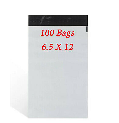 100  6-5 x 12 Poly Mailers Shipping Envelopes Self Sealing Plastic Mailing Bags