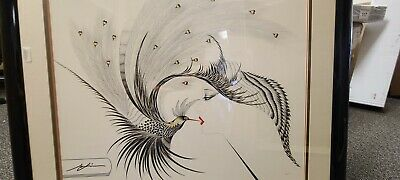 Hisashi Otsuka Double Kiss Serigraph- Print on excellent condition-