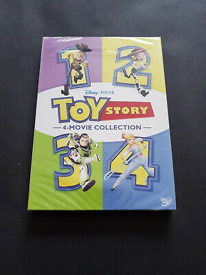 Toy Story 1-4 DVD Box Set 4-Movie Collection USA Region 1 Brand New