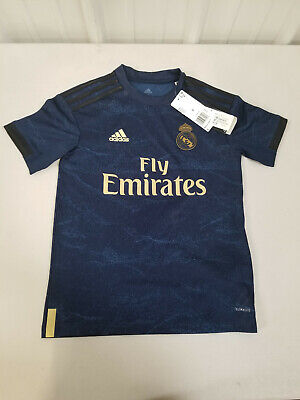 Adidas REAL MADRID Youth Jersey Away 2019-2020 SIZE SMALL - Free Shipping
