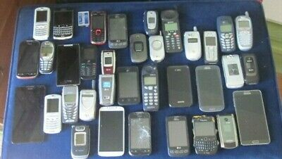 Lot of 35 cellphone cellphones smart flip gold recycling some work parts phone