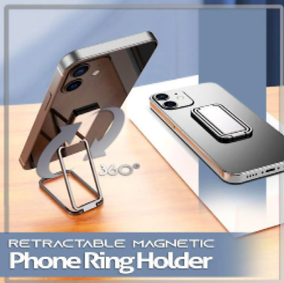 Retractable Magnetic Phone Ring Holder 360° Rotation Adjustable Phone Holder