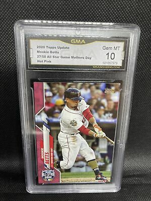 MOOKIE BETTS 2020 Topps Update Series Mother's Day Boston Red Sox 50 GMA 10 GEM