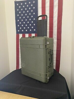 -Pelican 1610 Hard Protector Case- OD Green - Free Shipping-