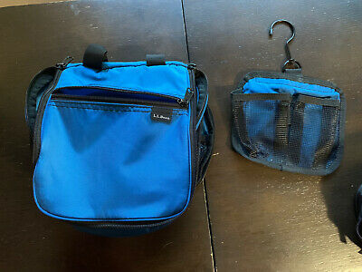 LL Bean Personal Organizer Toiletry Bag USED Nautical blue
