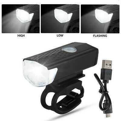 USB Rechargeable LED Bicycle Headlight Bike Head Light Lamp Cycling