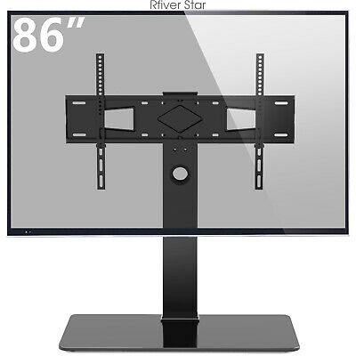 Universal Swivel Table Top TV Stand for 40-80 inch Flat Screen TVs up to 132lbs