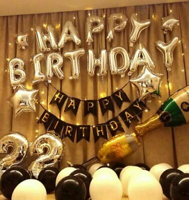 Birthday Party Decorations Set with Happy Birthday Balloons Banner  NEW