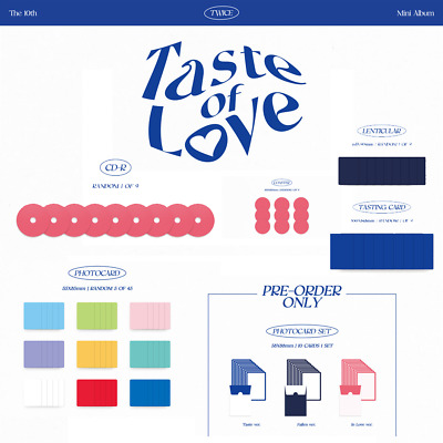 TWICE Taste of Love Official PHOTOCARD  CD  COSTER  PRE-ORDER PHOTOCARDETC