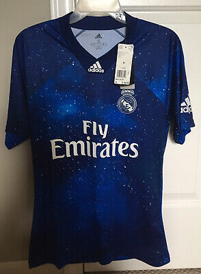 NEW REAL MADRID EA JERSEY LIMITED EDITION SIZE SMALL BLUE