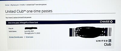 One United Airlines Lounge Club One-Time Pass Expires 062022 Email Delivery