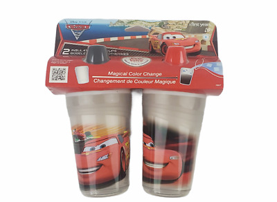 The First Years Disney Pixar Cars Insulated Sippy Cup 9 Oz Color Changing 2 pack