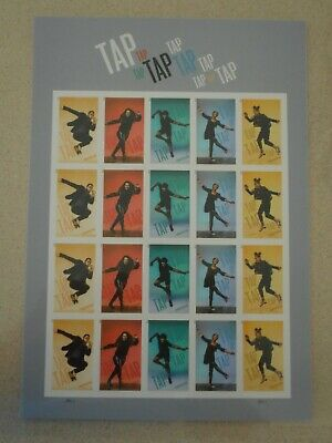 Tap Dance Imperf  NDC Sheet of 20 WO Die Cuts MNH