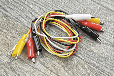 4pc Test Lead 16-gauge Double Ended Insulated Alligator Jumper Wire 36 Electric