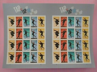 Tap Dance Imperf  NDC Sheets of 40 With Gutter Stamps MNH