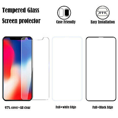 For iPhoneSamsungLGMotorola Phone Tempered Glass Screen Protector Film Clear