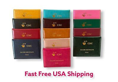 Vaccination Card Holder 4x3 Vaccine Protector CDC Wallet Certificate Color