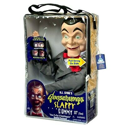 Slappy from Goosebumps Ventriloquist Dummy Doll - New In Case Glowing Eyes