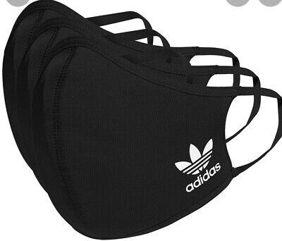 adidas Face Mask Cover Protection Black ML 3 Pack