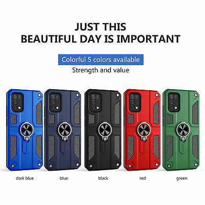 For Realme 6 7 Pro Shockproof Hybrid Armor Ring Holder Dual Layer Case Cover