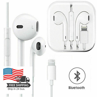 For iPhone 11 12 XR X XS Max 8 7 Plus 6 SE Wired Earbuds Earphones Headphones
