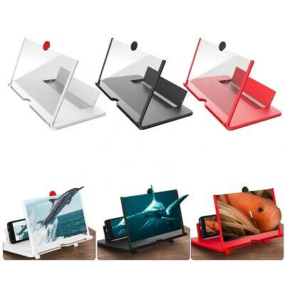 12 Folding Screen Magnifier 3D Amplifier Stand Mobile Phone Adjustable HD Video